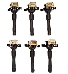 Ic15 12131748017 12137599219 95-03 Bmw Set 6pcs Ignition Coil 323ci 323i 323is 325ci 325i 325xi 328i 328is 330ci 330i 330xi 525i 528i 530i 540i 740i 740il 750il 840ci 850ci M3 M5 X5 Z3 Z8 95 96 97 98 99 00 01 02 03 by MotorKing