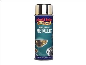 Plasti-kote 161 400ml Brilliant Metallic Spray Paint - Silver