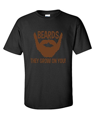 BEARDS-THEY-GROW-ON-YOU-Present-Gift-Idea-Humor-Novelty-Funny-Fathers-Day-TSHIRT
