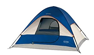 Wenzel 36420 Ridgeline 7-by-7 foot Three-Person Dome Tent (Blue/LightGrey/Red)