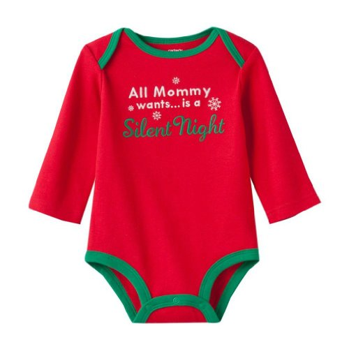 Carter'S Long Sleeve Bodysuits - All Mommy Wants-6M front-1034174