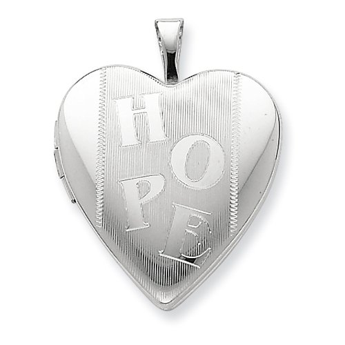 Sterling Silver 20mm Hope Heart Locket