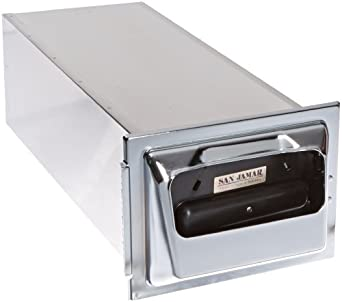 "San Jamar H2001 Stainless Steel In-Counter Fullfold Classic Napkin Dispenser, 750 Plus Capacity, 7"" Width x 19-5/8"" Height x 5-1/2"" Depth, Chrome"