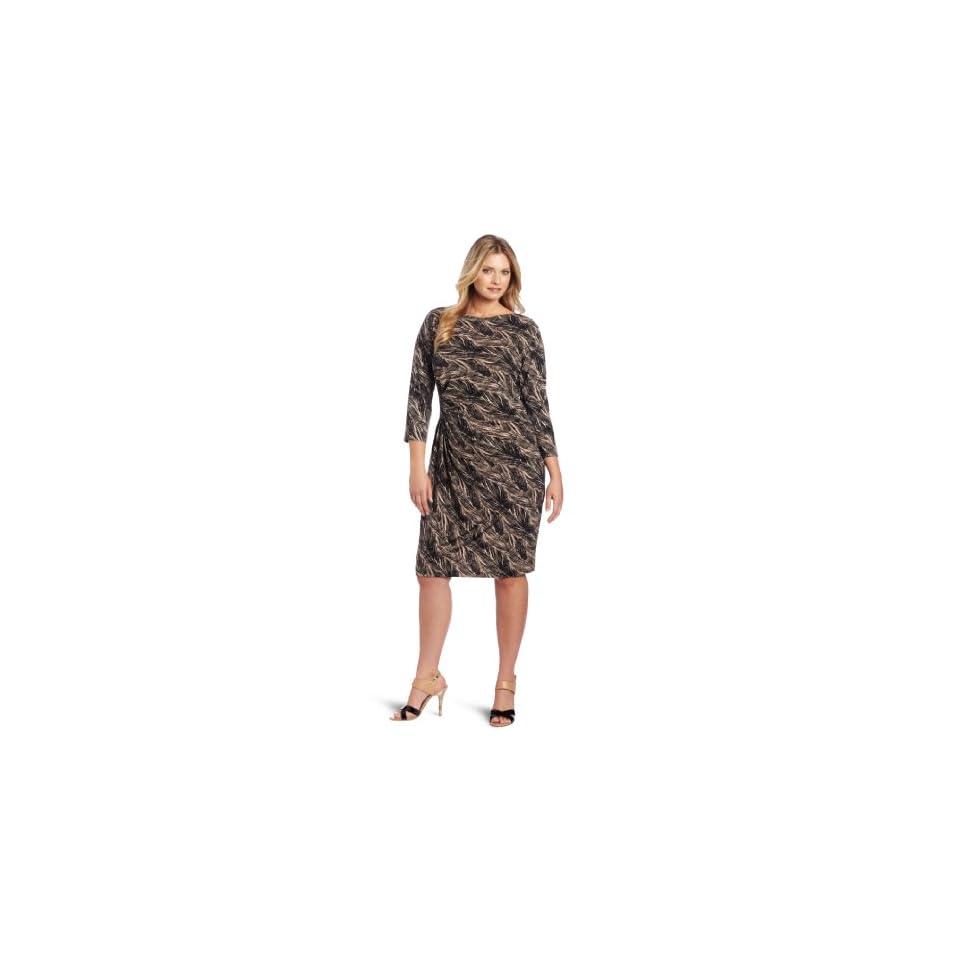 Anne Klein Womens Plus Size Dress