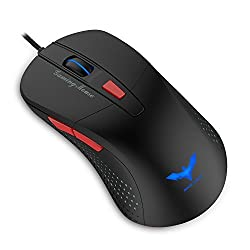 HAVIT HV-MS745 Adjustable 2800 DPI with 4 LED Lights Optical Wired Gaming Mouse for PC and Mac (Black+Red)