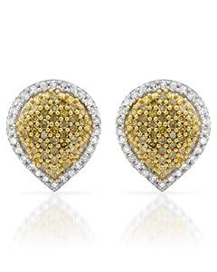 Genuine Morne Rouge (TM) Earrings. 0.5 Ctw Diamonds Sterling Silver Earrings. 2.2 Grams in Weight and 10 mm in Length. 100% Satisfaction Guaranteed.