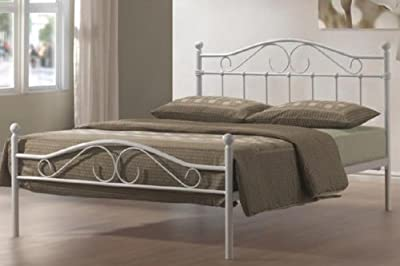 Sussex White Metal Bed Frame 120cm Small Double