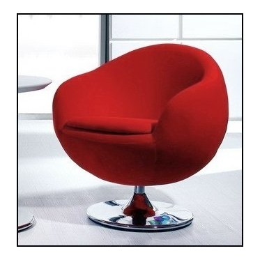 Sillón design de bola, color rojo