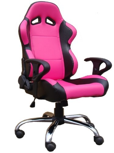 office furniture office computer bucket racing chair pink black