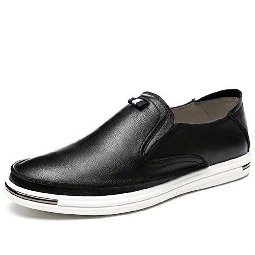 In vera pelle da uomo inverno moda autunno personalità all'aperto scarpe Casual , black , 43