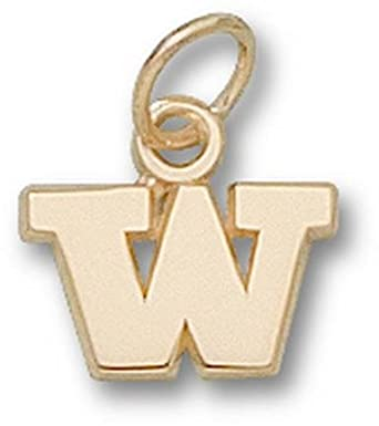 Washington Huskies W 1 4 Charm - 14KT Gold Jewelry by Logo Art