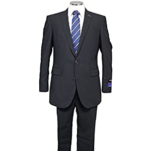 (ブルーム)BLOOM 春夏ビジネススーツ 360度全方向に伸びるストレッチ素材 NIKKE リクルートスーツ 上下 メンズ ノータック YA体A体 AB体 2ボタンスーツ ブラック A4