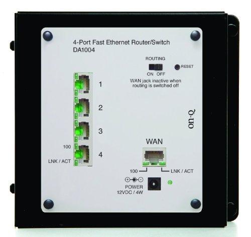 Onq / Legrand Da1004 4Port Ethernet Router/Switch