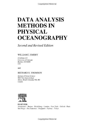 Data Analysis Methods in Physical Oceanography, Second...