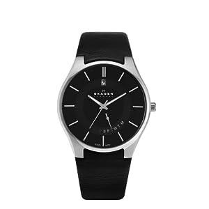 Skagen 989XLSLB - Reloj para hombres, correa de cuero ...