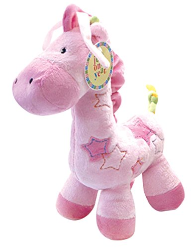 Ct Baby Toy,pink Giraffe Music Box Plush Baby Toys