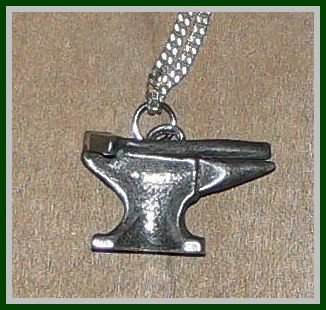 Anvil and Hammer Necklace - Solid Pewter