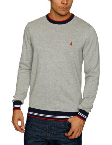 Musto Kite Cotton Crew Neck Men's Jumpers Light Grey Marl Large