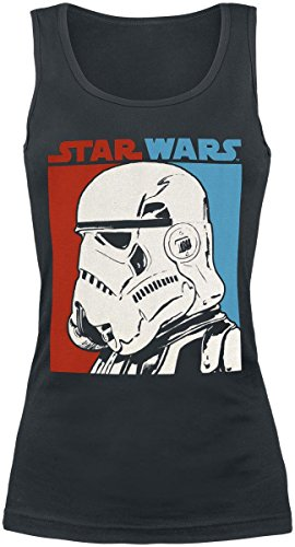 Star Wars Two Tone Trooper Top donna nero S