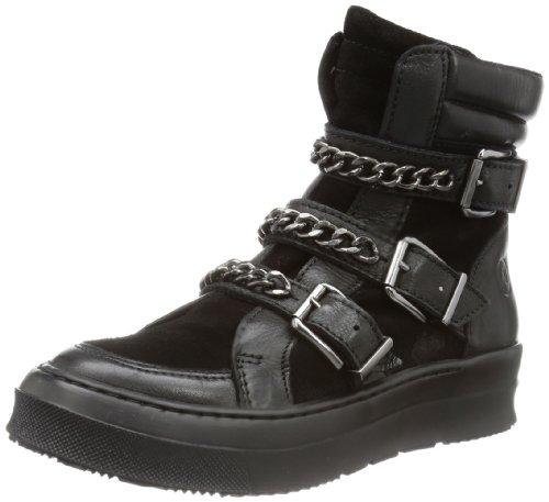 Bronx BX 572 43897-DE, Stivali da motociclista Donna, Nero (Schwarz (black/ dark silver 806)), 38