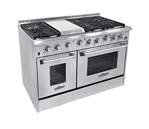 Thor Kitchen HRG4804U 6 Burner Gas Range with Double Oven (Viking Gas Oven compare prices)