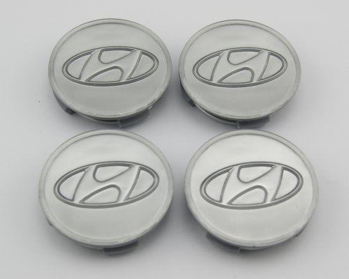 Angel Mall Hyundai 60mm Outer Diameter Silver Wheel Center Hub Caps Cover 4-pc Set (Hyundai Elantra Wheel Center Cap compare prices)