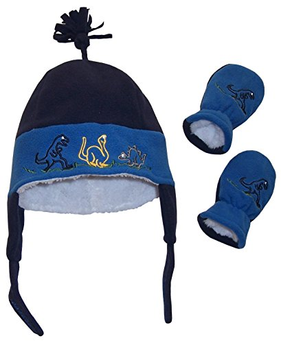 nice-caps-baby-and-little-boys-dino-embroidered-sherpa-lined-set-3-6-months-infant-navy-royal