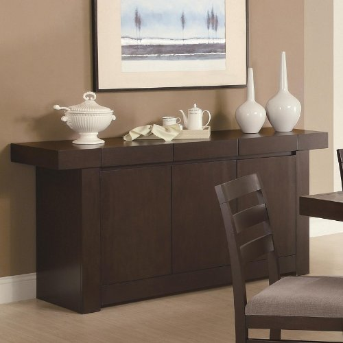 Cheap Server Sideboard with Spacious Top in Cappuccino Finish (VF_103105)