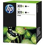 HP 301XL 2er-Pack schwarz Original Tintenpatronen mit hoher Reichweite