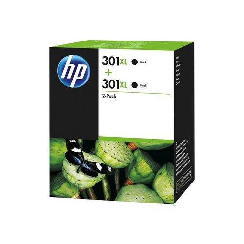 HP 301 XL 2-Pack Noir Cartouche d'encre d'origine D8J45AE