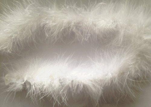 sparkles-gems-uk-marabou-feather-string-swansdown-fur-trimming-soft-fluffy-trim-white-10-metres