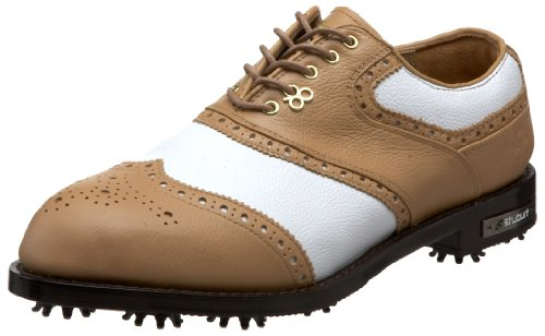 Stuburt 2012 Men's DCC Classic Golf Shoes - White/Fudge 8.5 uk