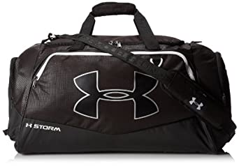 Under Armour Undeniable Duffel Bag, Black/White, Medium