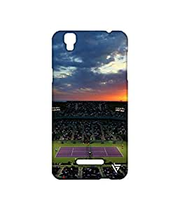 Vogueshell Tennis Court Printed Symmetry PRO Series Hard Back Case for YU Yureka Plus