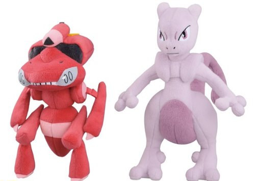 All-two-Genosekuto-red-Mewtwo-Pokemon-Best-Wishes-Super-DX-Plush-Doll-japan-import