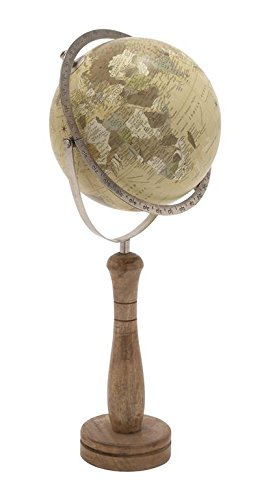 Deco 79 24074 Classic World Globe On Wooden Stand, Small 2
