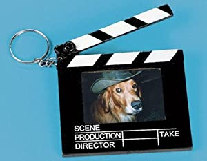 Movie Director Clapboard Photo Keychain 2in x 2.5in