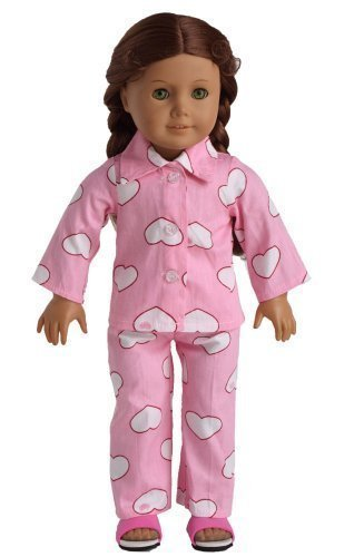 Doll Clothes 2pc Pink Sleepwear Pajamas Fits 18 Inches American Girl Dolls