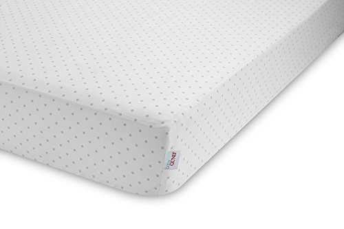 GUND Babygund Sprinkles Peachy Crib Sheet, Sprinkles - Golly Grey, 28'' By 52''