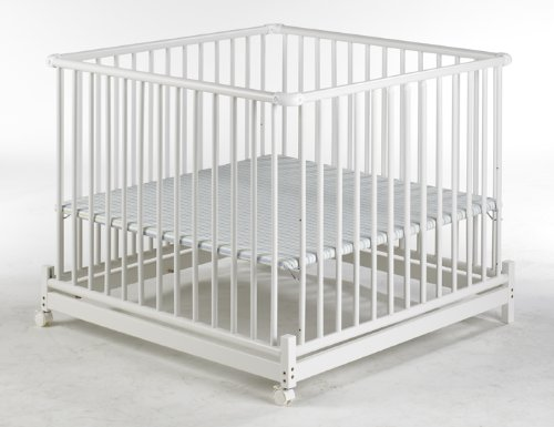 Geuther Europarc Playpen (White/ Stripes)