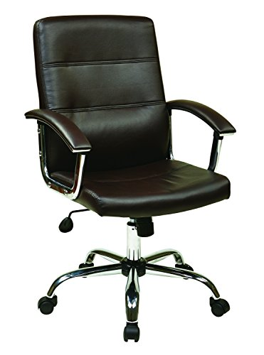 Ave Six MAL26-ES Malta Office Chair, Espresso