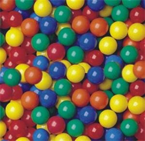 "Pack of 300 pcs Crush-Proof non-PVC Plastic Ball Pit Balls in 5 Colors - Phthalate Free 3.1"" Air-Filled - Guaranteed Crush-Proof"