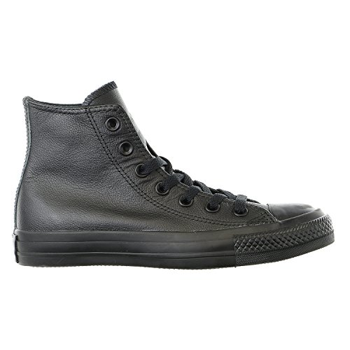 Converse Men's Chuck Taylor Leather High Top Sneaker Black Monochrome (5.5) (Converse Work Shoes compare prices)