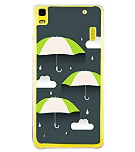 Rain and Umbrella 2D Hard Polycarbonate Designer Back Case Cover for Lenovo A7000 :: Lenovo A7000 Plus :: Lenovo K3 Note