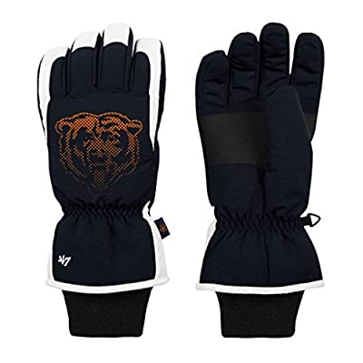 Chicago Bears Men's Glade Nylon Ski Gloves - OSFM