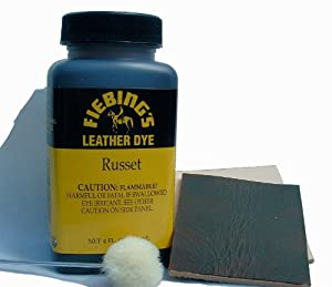 Fiebing's Leather Dye 4 Fl. Oz. (118 Ml) - 27 Colors (Russet) by Fiebing's