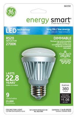 G E Lighting 66150 LED Reflector Bulb, RS20,