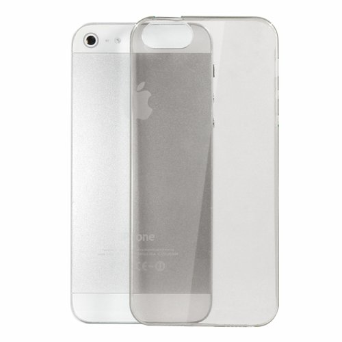 Moon Monkey Ultra-Thin Slim Transparent Skid Resistance Protective Cover Case For Iphone 5 5S (Mm369) (Grey)