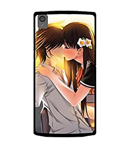 Love Couple 2D Hard Polycarbonate Designer Back Case Cover for OnePlus X :: One Plus X :: One+X