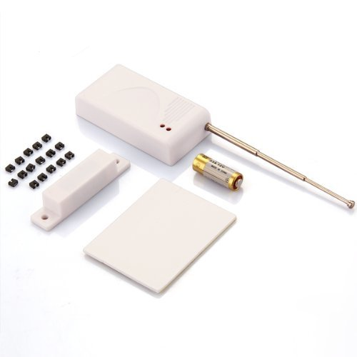 SODIAL(R) 433MHZ Wireless Door Window Magnet Sensor Detector Alarm Home Security System